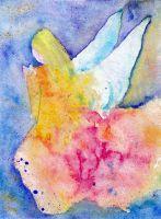 Angel on knees