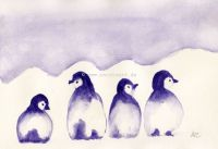 Purple penguins
