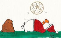 Nikolaus und Weihnachtskugel
